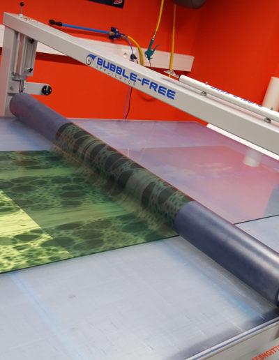 Glas bedruckt Produktion