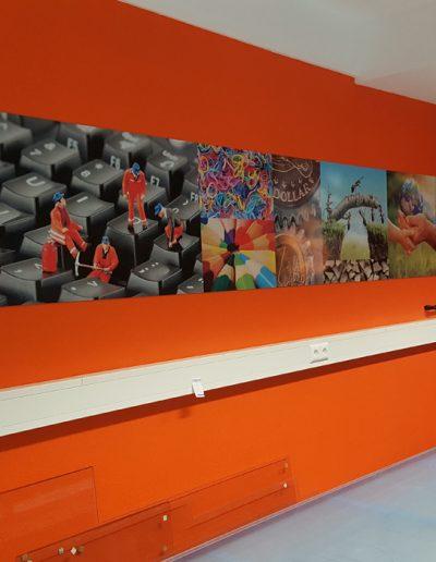 bedruckte Kunststoffplatten