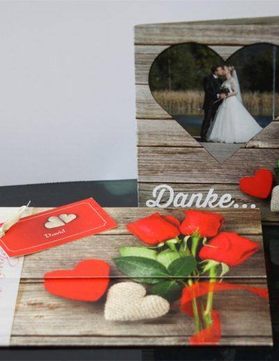 Hochzeitseinladung und Dankekarten